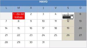 Calendario de visitas Concesionario Mateo Grupo. Horario y días festivos concesionario Mateo Grupo. Horario mayo 2018.